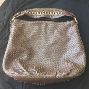 So Bottega! Banana Republic Basketweave Brown Hobo